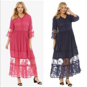 Roaman's Rayon Crinkle Dress Plus Size
